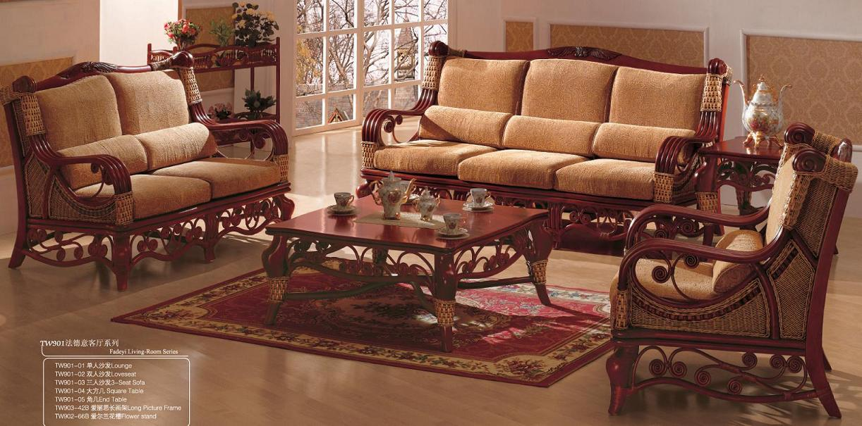 Indoor rattan living room furniture 13 tw 901 01 for Rattan living room furniture