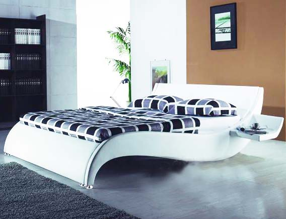 modern leather bed, leisure soft bed, furniture - LB-2030