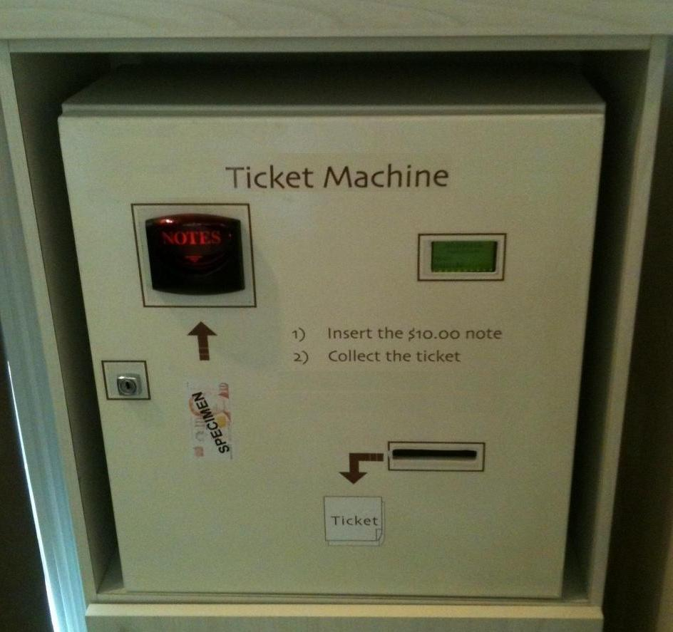 Ticket Dispensing Machines - --
