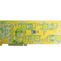 Large picture China 10 layers PCB with green mask white legend