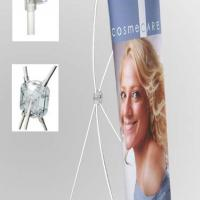 Large picture White Fiber Glass Pole X Banner Stand