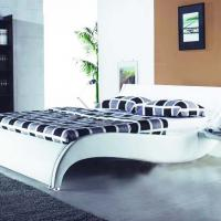 Large picture modern leather bed, leisure soft bed, furniture