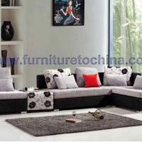 Large picture fabric leisure sofa, modern sectional furniture