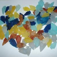 Large picture Agate Dyed Arrowheads