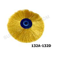 Large picture brush circular brass