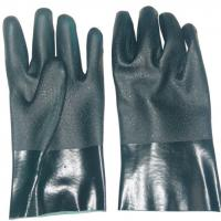 Large picture green gauntlet pvc work glove