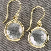 Large picture Clear quartz Mini Lollipop Earrings