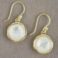 Large picture 18k gold over 925 silver shell Lollipop earrings