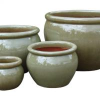 Large picture ceramic pot