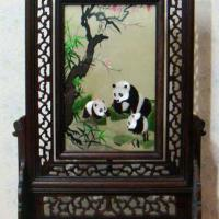 Double-sided silk embroidery screen home decor
