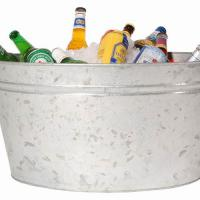 galvanized metal bucket ice bucket