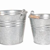 metal water bucket galvanized pail